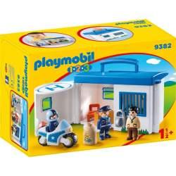 Playmobil 1.2.3 Comisaría Policía Maletín