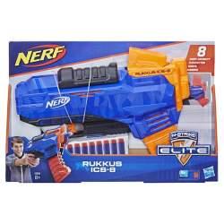 Pistola Nerf Elite Rukkus Con Clip Para Capacidad De 8 Dardo