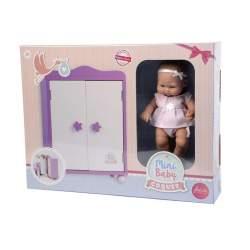Armario De Madera Mini Baby Coquet 28 Cm Con Muñeco