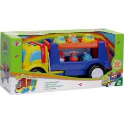 Camión Portacoches Con Luz, Sonidos Y 6 Vehículos