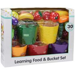 Caja 5 Cestas Con Frutas 30 Piezas