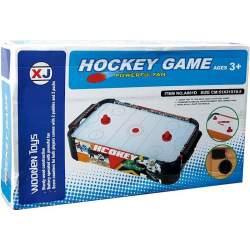 Air Hockey Madera Decorado Sobre Mesa