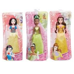 Muñeca Princesa Brillo Real 27 Cm. Blancanieves, Tiana, Bella Durmiente Y Bella