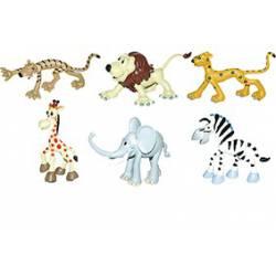 Conjunto 6 Animales Selva