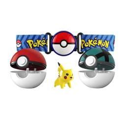 Pokemon Cinturón Ataque Incluye 2 Clip N'carry Pobe Balls Y