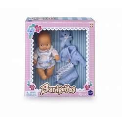 Barriguitas Bebe 14,5 Cm Con Ropita Azul Y Peluche Oso