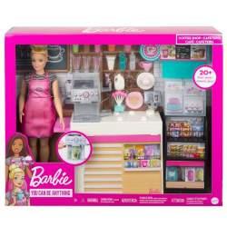 Muñeca Barbie Y Su Cafetería Con Accesorios.