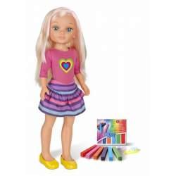 Muñeca Nancy Un Dia Haciendo Mechas C/ Tizas De Colores