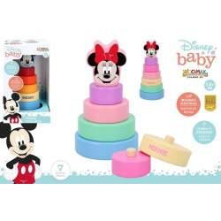 Torre Apilable De Madera Mickey Y Minnie 20 Cm 2 Mod. Sdos.