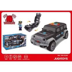 Coche Jeep Policía Portacoches Con Coches
