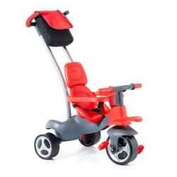 Triciclo Rojo Con Palo, Cinturon, Bolsa Y Rueda Goma 98 Cms.