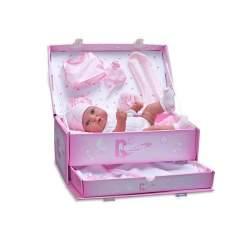 Muñeca Recien Nacido Rosa Con Traje