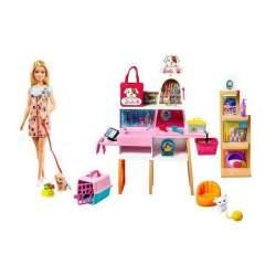 Muñeca Barbie Y Su Tinda De Mascotas
