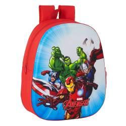 Mochila 3D Guarderia Avengers Roja