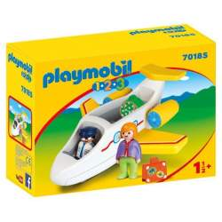 Playmobil 1.2.3 Avion Con Pasajero