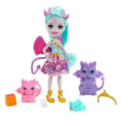 Muñeca Enchantimals Familia Dragones
