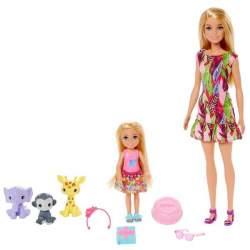 Muñeca Barbie Y Chelsea Cumpleaños Con Animales