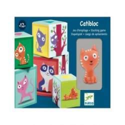 Catibloc Djeco Cubos Apilables Gatito