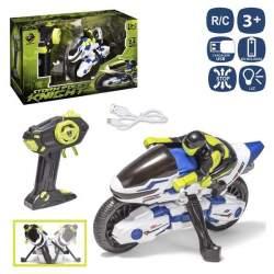 Moto R/C Antivuelco Storm Knight. Con Luz,Cargador Y Bateria