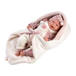 Muñeca Recién Nacida Mimi Sonrisas 42 Cm Con Cuerpo De Tela