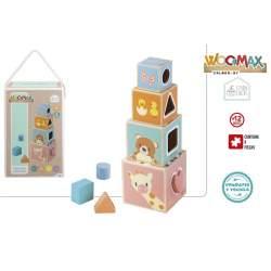Torre Cubos De Madera Woomax Circus