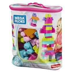 Bolsa Contruccion Mega 60 Piezas Rosa