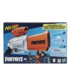 Pistola Nerf Fortnite Sr Carga 4 Dardos En Su Tambor.