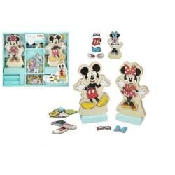 Juego Encajable Madera Vestidos Disney 34X28 Cm