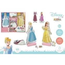 Juego Encajabel Madera Vestidos Disney Princesas 32X28 Cm
