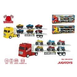 Camión Portacoches, Coches Y Motos Con Sonidos, 2 Mod. Sdos
