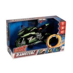 Moto Negra Teamsterz Con Luz Y Sonidos 19X28x12 Cm