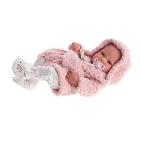 Muñeca Recien Nacida Lea Con Albornoz 42 Cm (Cuerpo Vinilo)