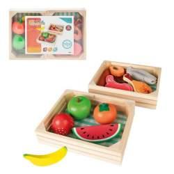 Set 2 Cajas Madera Con Comida Woomax Incluye 12 Piezas Mod S