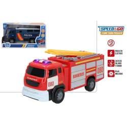 Camion Electrico Speed & Go Policia O Bomberos Sdos. Con Luc