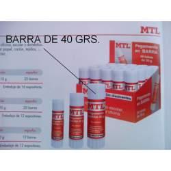 PEGAMENTO BARRA MTL GRANDE 40G C/12U