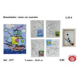 BASTIDOR C/LIENZO SORT PREDISEÑADO C/PINTURAS 1377