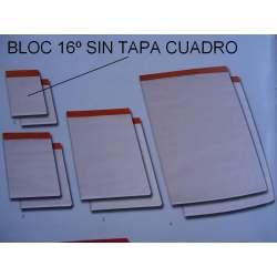 BLOC NOTAS GRAPADO 16º CUADROS S/TAPA PTE 10U