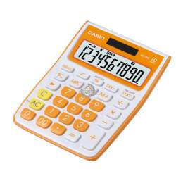 CALCULADORA CASIO MS 10VC-OE 10 DIGITOS NARANJA