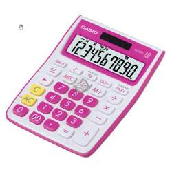 CALCULADORA CASIO MS 10VC-RD 10 DIGITOS ROJO FUCSIA