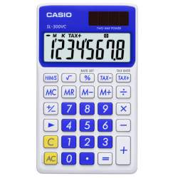 CALCULADORA CASIO SL 300VC BE 8 DIGITOS AZUL AGUA