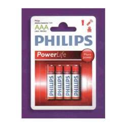 PILA PHILIPS POWERLIFE AAA, LR03 4U