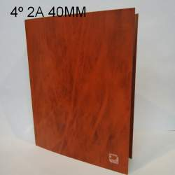 CARPETA 2A 40MM 4º NATURAL CARTON CUERO