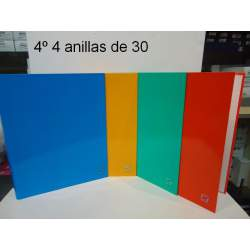 CARPETA 4A 25MM 4º CARTON COLORES SURTIDOS