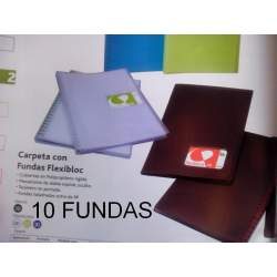 CARPETA ESCAPARATE FL FLEXIBLOCK 10 FUN.
