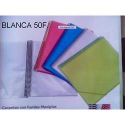 CARPETA ESCAPARATE FL MAXIPLAS 50F TRANSPARENTE BLANCO