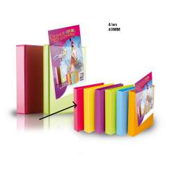 CARPETA PLAST. 4A 40MM FL MIXTA ROSA 8327FC412