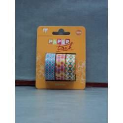 CINTA ADHESIVA CLAIREFONTAINE ESPECIAL SCRAPBOOKING PACK 3U 15*10M 211431