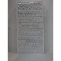 LETRA ADHESIVA APLI GOMAESPUMA RELIEVE BLANCO BLISTER 290U 13886