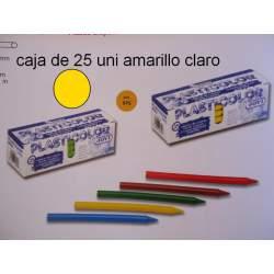 CERAS JOVI PLASTICOLOR GRANEL AMARILLO CLARO C/25