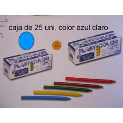 CERAS JOVI PLASTICOLOR GRANEL AZUL CLARO C/25